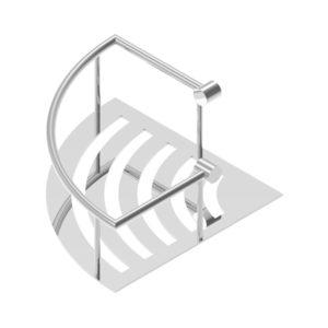 Wire Basket Triangular Single
